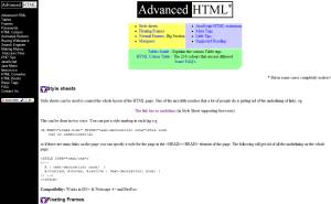 Advanced HTML web site