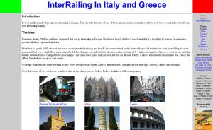 Italy and Greece Interrail website